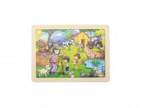 12 Piece Jigsaw Puzzle - Happy Farm...
