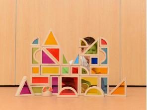 30 Pieces Rainbow Block Set