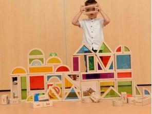58 Pieces Rainbow Bricks Assortment...