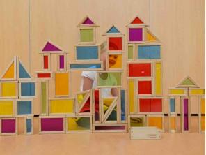 51 Pieces Rainbow Block Set